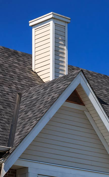 Detail of Rooftop like those installed in the Lubbock area by American Roofing.